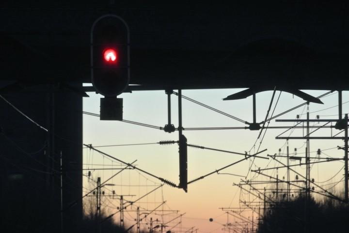 Vårgårda - I väntan på mötande tåg