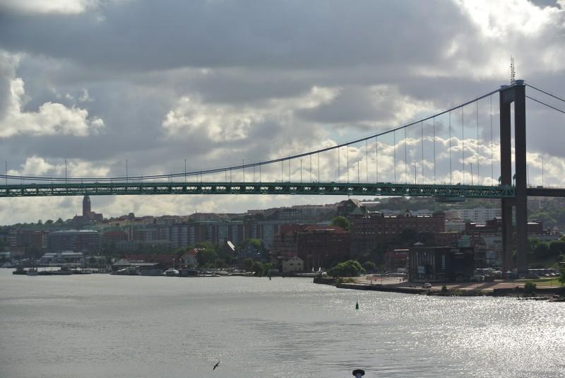 En vy över Göteborgs hamninlopp. Vädret var helt ok
